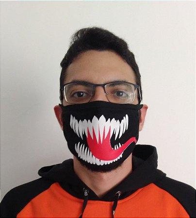 Máscara de Tecido Simbionte - Venom Reutilizável