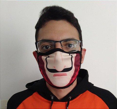 Máscara de Tecido La Casa De Papel Reutilizável