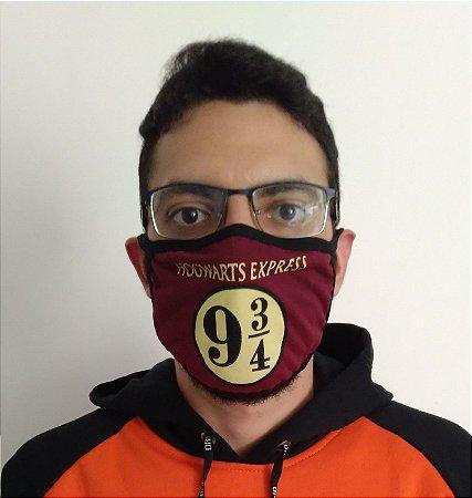 Máscara de Tecido Harry Potter Plataforma Reutilizável