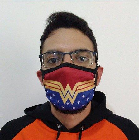 Máscara de Tecido Mulher Maravilha Reutilizável