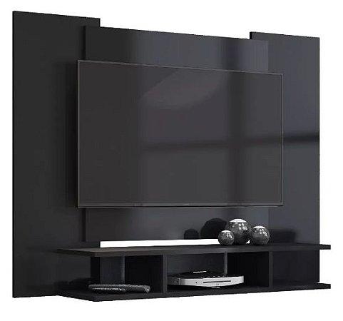 Painel de TV Preto Fosco Com Suporte de TV - EJ