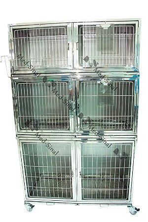 Canil inox para 6 animais