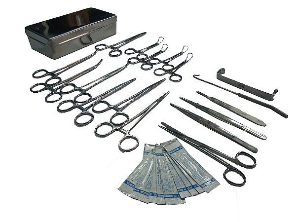 Caixa Cirúrgica Castração 21 Peças