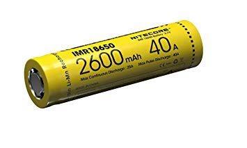 Bateria 18650 IMR 40A 2600 mAh - NITECORE