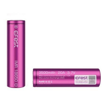 Bateria 18650 - Efest Purple - Efest  3.7V 3500 MAh 20A