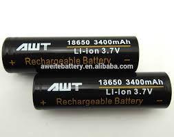 Bateria 18650 Li-ion - AWT® 3400 mAh 3.7V
