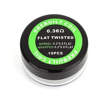 Bobinas Flat Twisted 0.36ohm (0.2*0.8 Flat)