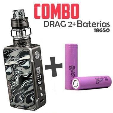 Combo Vape - 1 Kit Drag 2 + 2 baterias 18650
