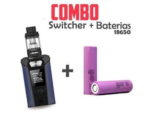Combo vape - 1 Kit Switcher Com 2 Baterias 18650