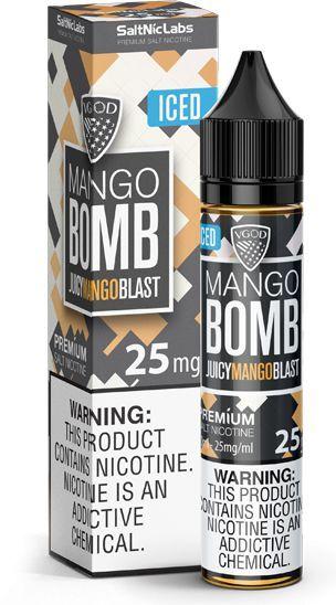 Líquido Juicy Mango Blast Iced Salt - Mango Bomb - VGOD