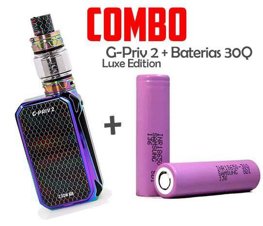 Combo Vape - 1 Kit G Priv 2  Com 2 Baterias 18650