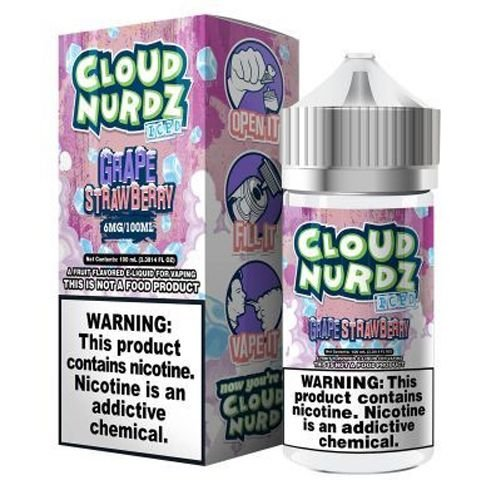 Líquido Cloud Nurdz - Grape Strawberry Iced