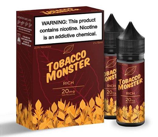 Líquido Salt Nicotine - RICH - Tobacco Monster