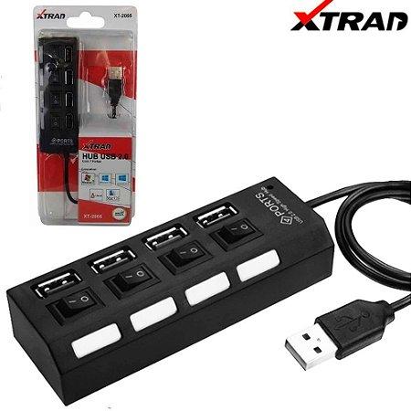 Hub usb 4 portas 2.0 Xtrad XT 2066