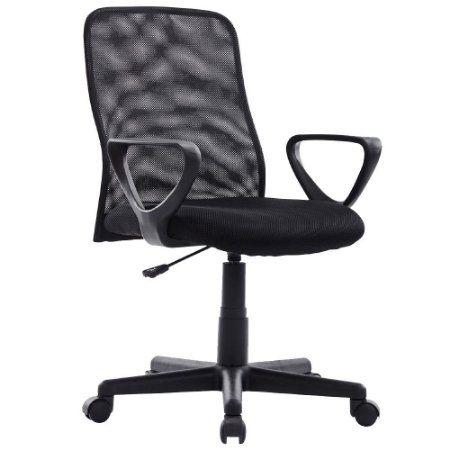 Cadeira Executiva Mesh Giratoria Preta MYMAX