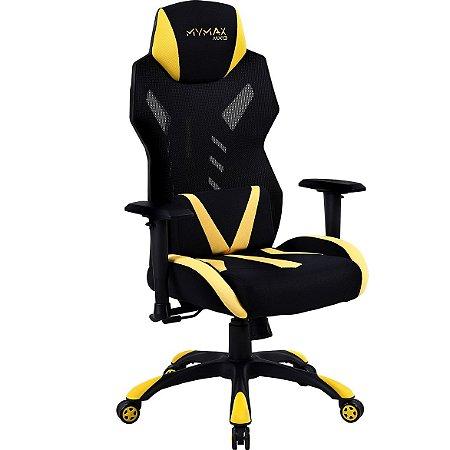 Cadeira Gamer Mymax MX13 Amarela