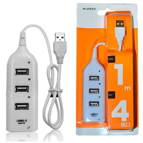 HUB 4 Portas USB Branco