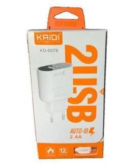 Kit Carregador de Tomada Kaidi KD-607S 100cm 2.4A Micro USB