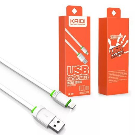 Cabo De Dados Kaidi Kd-306 Para iPhone Carga Rapida Novo