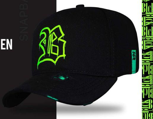 Boné blck Fluor Green Black
