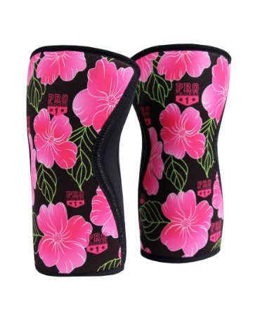 Joelheira Crossfit 7mm  Rosa Floral