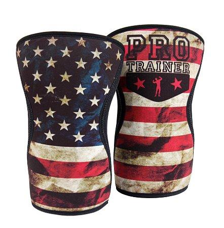 Joelheira Crossfit 7mm Bandeira EUA