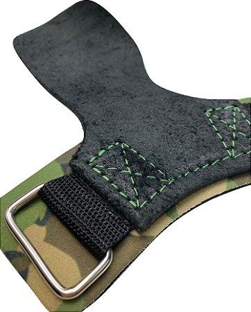 Hand Grip Couro Camuflado Verde