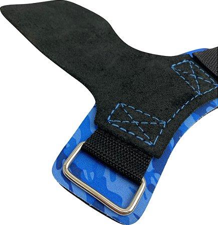 Hand Grip Couro Camuflado Azul
