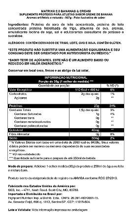 MATRIX 2.0 - BANANA E CREAM (907g)