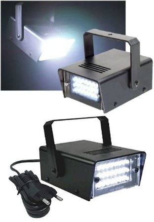 MINI STROBO LED BRANCO PISCA FLASH LUZ BALADA 110V UN R.YDH0511
