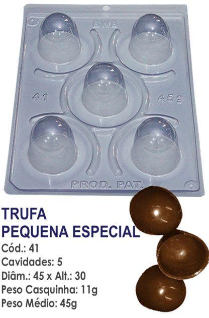 FORMA PARA CHOCOLATE COM SILICONE BWB TRUFA PEQUENA 45GR R.41_PF10