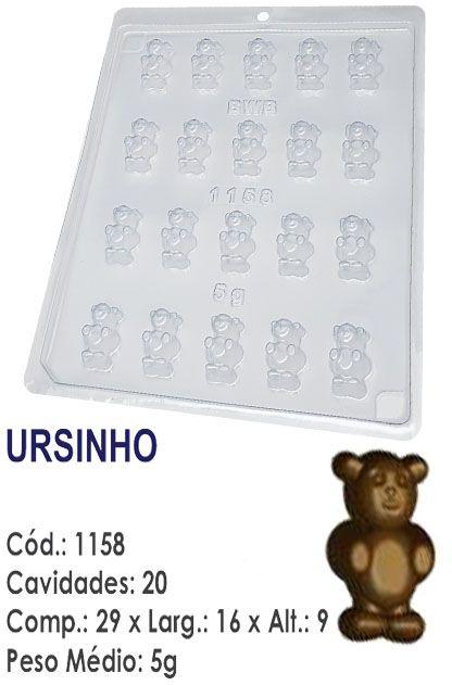 FORMA PLÁSTICA PARA CHOCOLATE BWB BOMBOM URSINHO UN R.1158