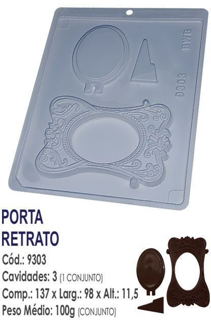 FORMA PLÁSTICA PARA CHOCOLATE BWB PORTA RETRATO GRANDE UN R.9303