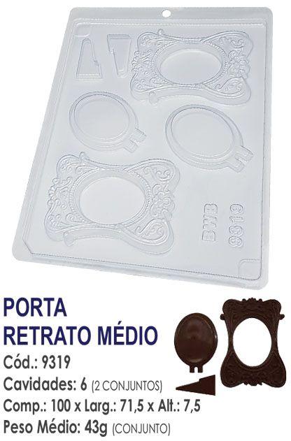 FORMA PLÁSTICA PARA CHOCOLATE BWB PORTA RETRATO MÉDIO UN R.9319