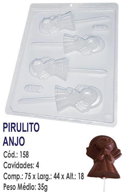 FORMA PLÁSTICA PARA CHOCOLATE BWB PIRULITO ANJO UN R.158