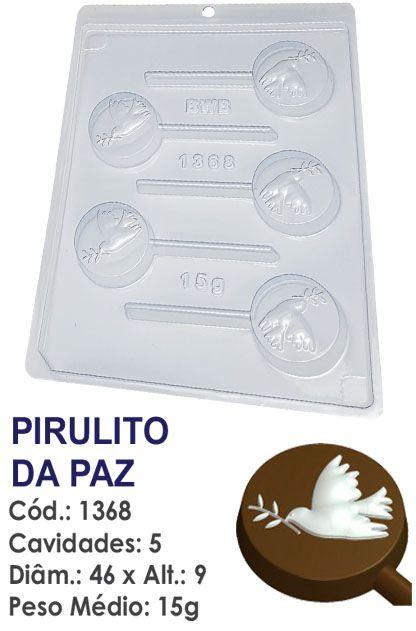 FORMA PLÁSTICA PARA CHOCOLATE BWB PIRULITO POMBA DA PAZ RELIGIÃO UN R.1368