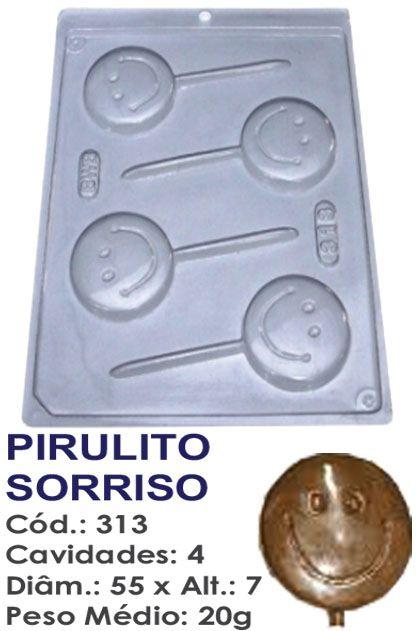 FORMA PLÁSTICA PARA CHOCOLATE BWB PIRULITO SORRISO SMILE 20G UN R.313_411