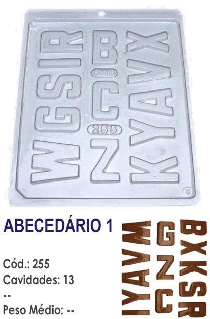 FORMA PLÁSTICA PARA CHOCOLATE BWB BOMBOM LETRA ABECEDÁRIO 1 UN R.255