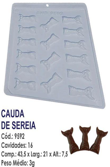 FORMA PLÁSTICA PARA CHOCOLATE BWB BOMBOM CAUDA DE SEREIA UN R. 9592