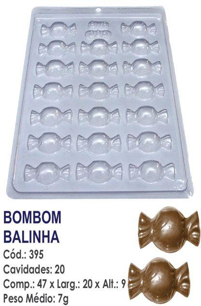 FORMA PLÁSTICA PARA CHOCOLATE BWB BOMBOM BALINHA UN R.395