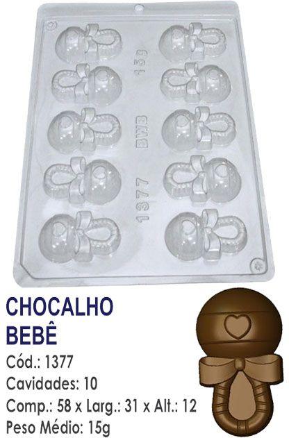 FORMA PLÁSTICA PARA CHOCOLATE BWB BOMBOM CHOCALHO CHÁ DE BEBÊ UN R.1377