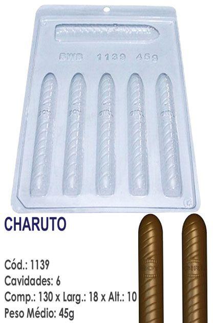 FORMA PLÁSTICA PARA CHOCOLATE BWB BOMBOM CHARUTO CHÁ DE BEBÊ UN R.1139