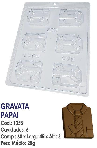 FORMA PLÁSTICA PARA CHOCOLATE BWB BOMBOM GRAVATA PAPAI UN R.1358