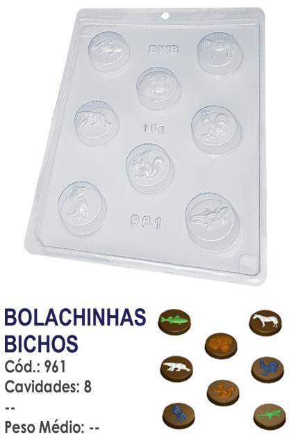 FORMA PLÁSTICA PARA CHOCOLATE BWB BOMBOM BOLACHINHAS BICHOS ANIMAIS UN R.961