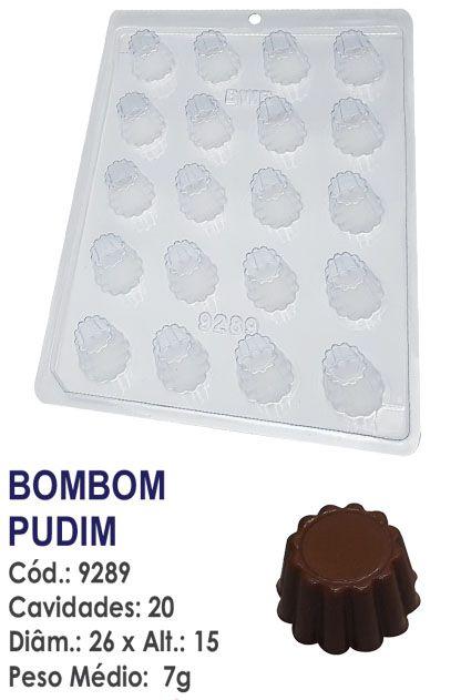 FORMA PLÁSTICA PARA CHOCOLATE BWB BOMBOM PUDIM UN R.9289