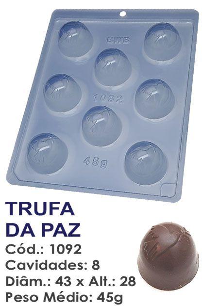 FORMA PLÁSTICA PARA CHOCOLATE BWB TRUFA DA PAZ UN R.1092