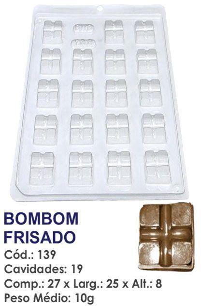 FORMA PLÁSTICA PARA CHOCOLATE BWB BOMBOM FRISADO UN R.139