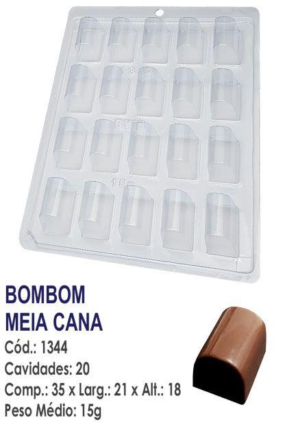 FORMA PLÁSTICA PARA CHOCOLATE BWB BOMBOM MEIA CANA UN R.1344_1988F