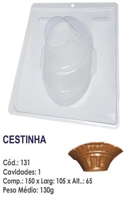 FORMA PLÁSTICA PARA CHOCOLATE BWB CESTINHA UN R.131