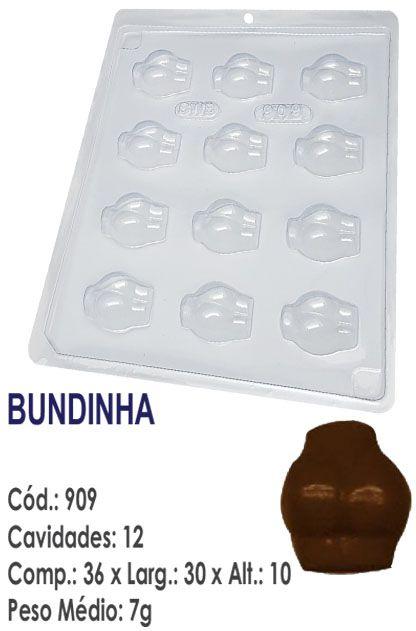 FORMA PLÁSTICA PARA CHOCOLATE BWB BOMBOM ERÓTICA BUMBUM BUNDINHA UN R.909
